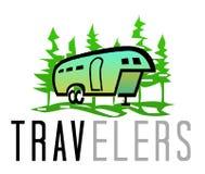 Logo dei viaggiatori Fotografia Stock Libera da Diritti
