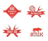 Logo del barbecue su fondo bianco illustrazione di stock
