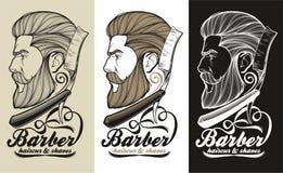 Logo del barbiere Immagini Stock