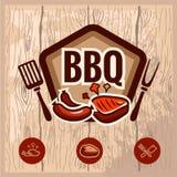 Logo 2 del Bbq Immagini Stock Libere da Diritti