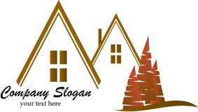 Logo del bene immobile Fotografia Stock Libera da Diritti