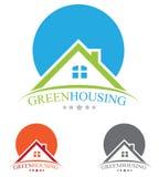 Logo del bene immobile Immagini Stock