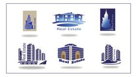Logo del bene immobile, casa di eco. Immagine Stock Libera da Diritti