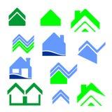 Logo del bene immobile della città Immagini Stock Libere da Diritti