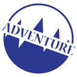 Logo del bollo di avventura Fotografie Stock