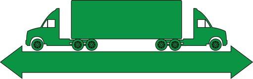 Logo del camion Immagini Stock