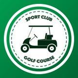 Logo del campo da golf del club di sport Immagine Stock