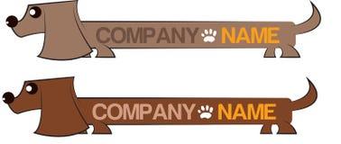 Logo del cane Fotografia Stock Libera da Diritti