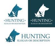 Logo del cane da caccia royalty illustrazione gratis