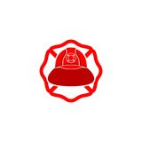 Logo del casco del pompiere Fotografia Stock Libera da Diritti