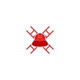 Logo del casco del pompiere Fotografia Stock