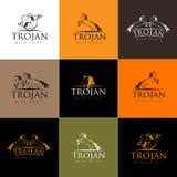 Logo del cavallo Emblema del distintivo dell'icona del cavallo di vettore Immagini Stock