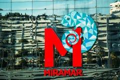 Logo del centro commerciale di Miramar a Fuengirola Fotografia Stock