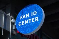 Logo del centro di identificazione del fan fotografie stock