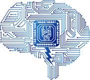 Logo del circuito del cervello immagini stock libere da diritti