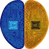 Logo del circuito del cervello fotografie stock
