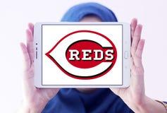 Logo del club di baseball di Cincinnati Reds Fotografie Stock