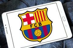Logo del club di calcio del FC Barcelona Immagini Stock