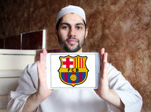 Logo del club di calcio del FC Barcelona Fotografie Stock