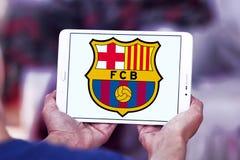 Logo del club di calcio del FC Barcelona Immagini Stock Libere da Diritti
