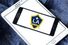 Logo del club di calcio della galassia di Los Angeles immagini stock