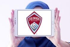 Logo del club di calcio delle rapide di Colorado Fotografia Stock