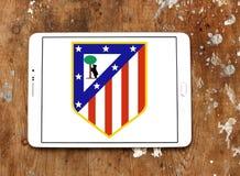 Logo del club di calcio di Atletico Madrid Fotografie Stock Libere da Diritti