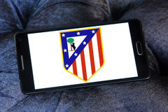 Logo del club di calcio di Atletico Madrid Immagini Stock