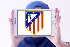 Logo del club di calcio di Atletico Madrid Fotografie Stock