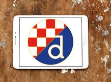 Logo del club di calcio di Dinamo Zagabria fotografia stock libera da diritti