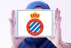 Logo del club di calcio di Espanyol Fotografia Stock