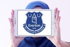 Logo del club di calcio di Everton Fotografie Stock