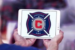 Logo del club di calcio del fuoco di Chicago Immagini Stock Libere da Diritti