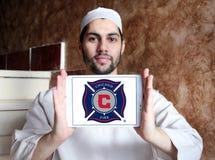 Logo del club di calcio del fuoco di Chicago Immagine Stock Libera da Diritti