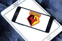 Logo del club di calcio di Watford Fotografie Stock Libere da Diritti