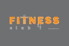 Logo del club di forma fisica Fotografia Stock Libera da Diritti