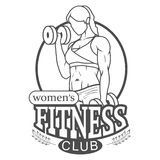 Logo del club di forma fisica delle donne Fotografia Stock