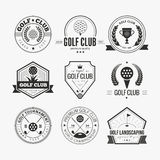 Logo del club di golf Fotografia Stock
