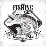Logo del club di pesca illustrazione vettoriale