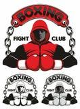 Logo del club di pugilato Fotografie Stock