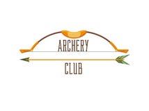 Logo del club di tiro con l'arco Fotografia Stock Libera da Diritti