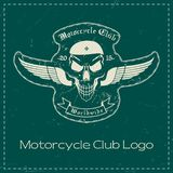 Logo del club del motociclo illustrazione di stock