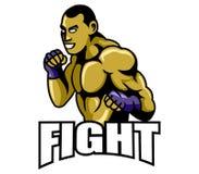 Logo del combattente royalty illustrazione gratis
