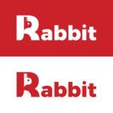 Logo del coniglio Fotografia Stock