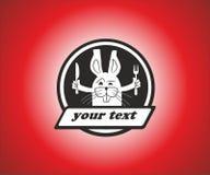 Logo del coniglio dal ristorante Fotografie Stock