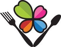 Logo del cucchiaio e della forchetta royalty illustrazione gratis