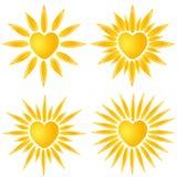 Logo del cuore di Sun Fotografia Stock Libera da Diritti