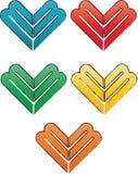 Logo del cuore m. Fotografie Stock