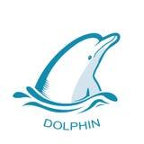 Logo del delfino Illustrazione di simbolo di Teeth Fotografia Stock Libera da Diritti