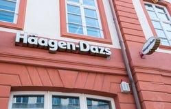 Logo del deposito di gelato di Haagen-Dazs immagine stock